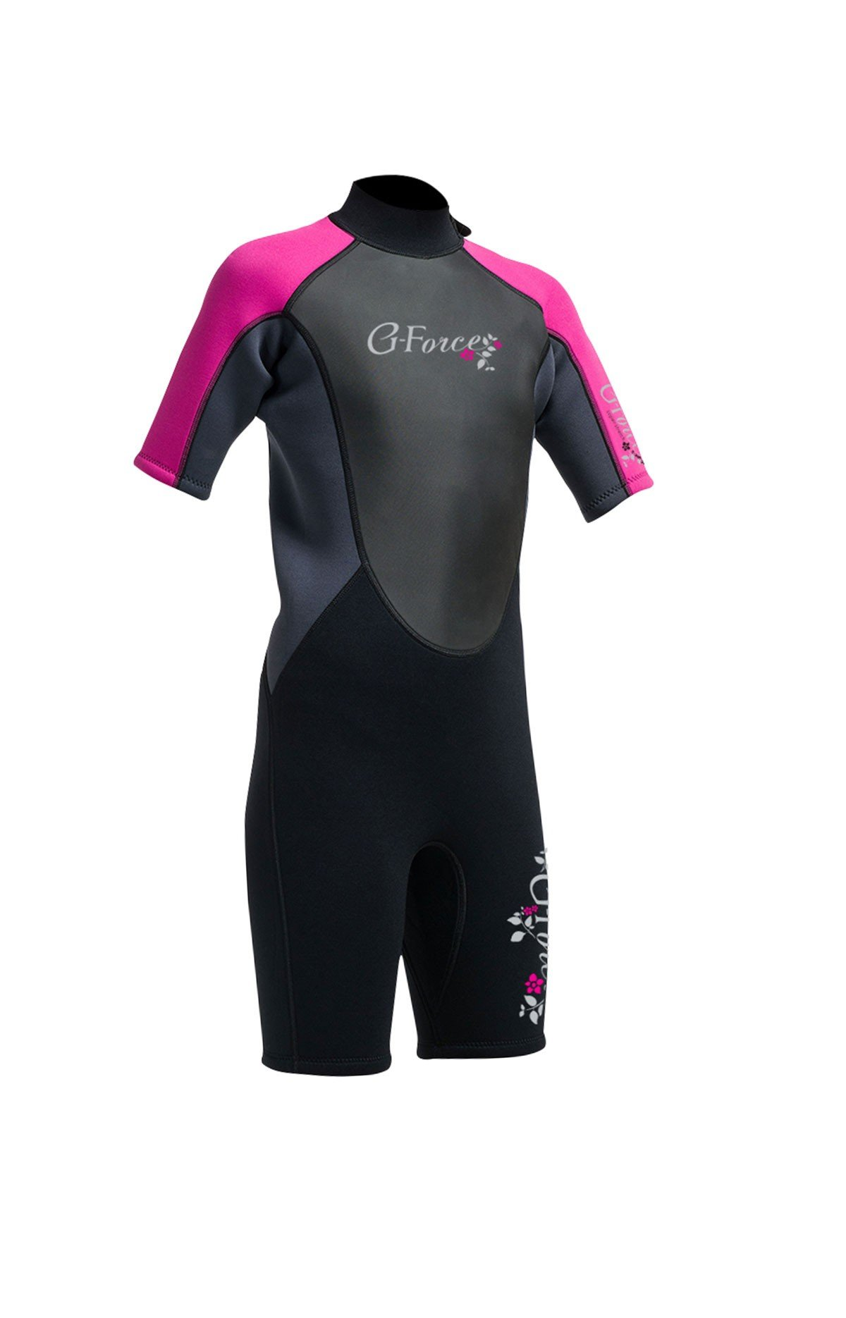Gul G-Force Junior Girls 3mm Fl Shorti Wetsuit Gf3308-A9